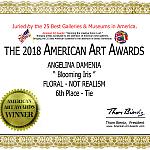 Сертификат American Art Awards 2018 — Победитель (VI место) США, 2018