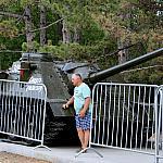 Near the tank