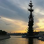 Peter the Great at sunset