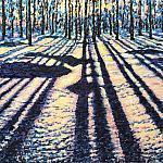 Геометрический лес. Зима