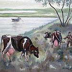 На заливном лугу (80х60см) On the flood meadow