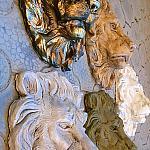 Лев барельеф