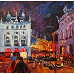 Picadilly By Night. Улица Пикадилли ночью