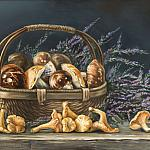 Натюрморт с грибами и вереском