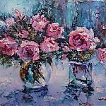 Розы на голубом