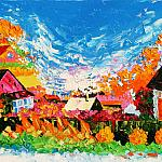 Autumn in Ocher 2005. Oil on canvas, 120-80, 2005. (Expressive sublimatizm)