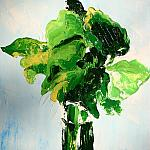 Bouquet of leaves. Oil on canvas, 36-18, 1970.