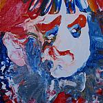 Boy clown. (Sketch to canvas New Year in an insane asylum). Oil on canvas). 60-40, 1986.