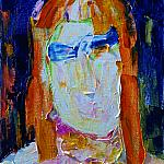 Man in sunglasses. (Self-portrait). Oil on canvas, 40-33, 1974.