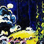 Moonlit Night. Oil on canvas, 80-80, 1995.