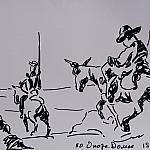 on Quixote. Paper, ink, 30-42, 1982.