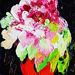 Peony flower. Oil on canvas, 30-21, 2001.