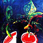 Plants. Oil on canvas, 70-60, 1973.