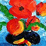 Poppies. Oil on canvas, 100-100, 2001.