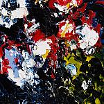 Red, black, white roses. Oil on canvas, 120-65, 2008. (Enkustikalitses - Abstract sublimatizm)