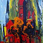 Red Castel. Oil on canvas, 80-60, 2008. (Minsk, Belarus).