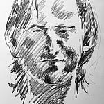 Self-portrait. Paper, c. pencil, 42-31, 1983.