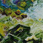 The ridge Kvarkush. (Series - The Ural Mountains). Oil on canvas, 40-33, 1994.