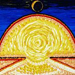 The sun chased away the moon. Oil on canvas, 40-50, 1970.