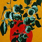 . Young apples. Wood, oil paint, 54-35. 5, 1969.