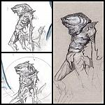 Peter Benchleys The Creature - Alternative concept, sketch