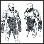The Steel - Alternative Robocop, concept sketch