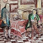 "Freestyle painting reproduction of Nikolai GE ""Peter I interrogates Tsarevich Alexei in Peterhof""1871"